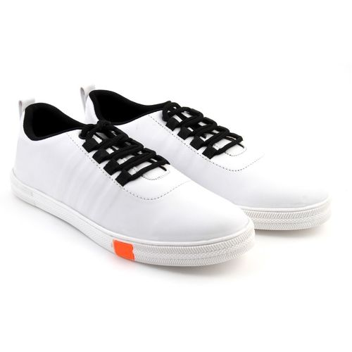 AA Unique stylish synthetic leather laceup ultralight elegant decent swagger trendy budget comfy Sneakers For Men(White)