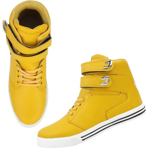ZIXER Zixer Exclusive Bolly Wood Dancing Boots Sneakers For Men(Yellow)