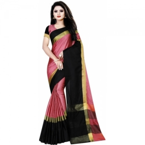 Aika Woven Pink Fashion Cotton Silk Saree
