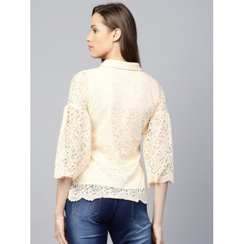 Athena Cream Lace Regular Fit Shirt