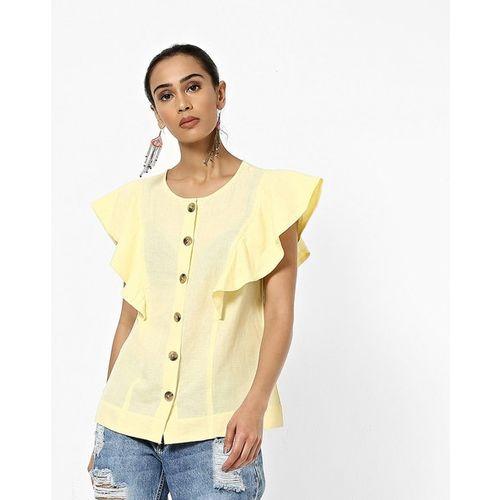 Vero Moda Shirt Top with Ruffles Sleeves