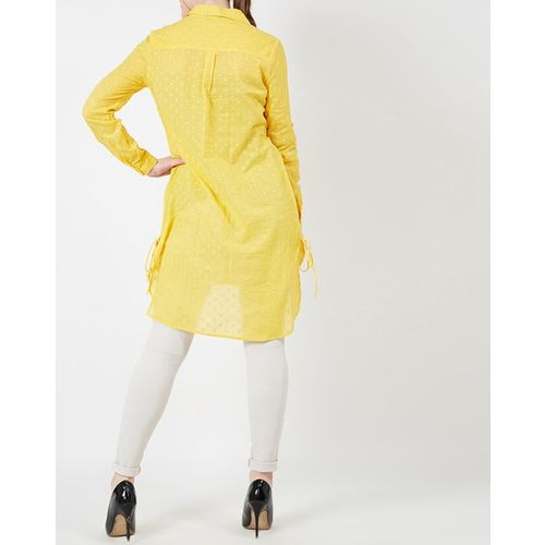 Oxolloxo Textured Tunic with High-Low Hemline