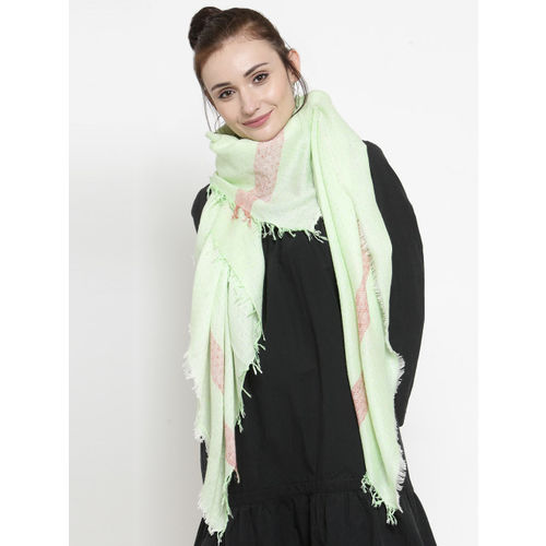 J Style Women Green Self-Design Scarf
