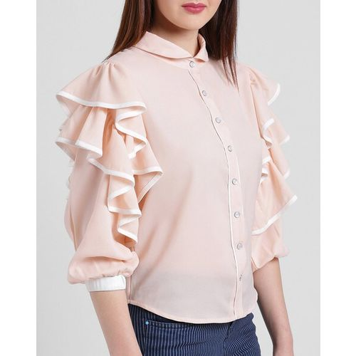 Texco Shirt with Cuffed Sleeves & Ruffles