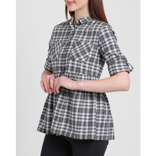Texco Checked Shirt with Patch Pockets