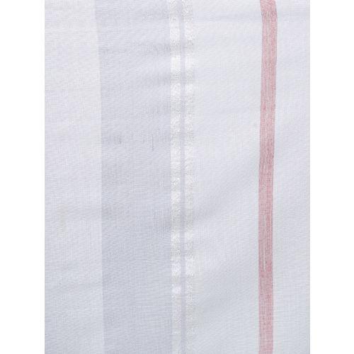 Anekaant Women White & Grey Striped Stole