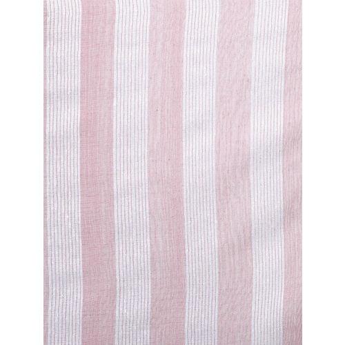Anekaant Women Pink & White Striped Stole