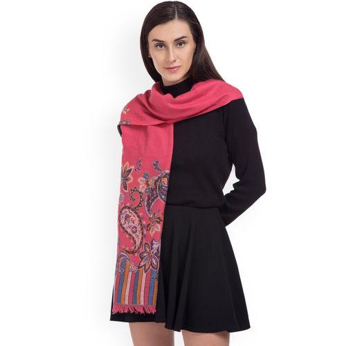 SHINGORA Women Pink Woven Design Stole