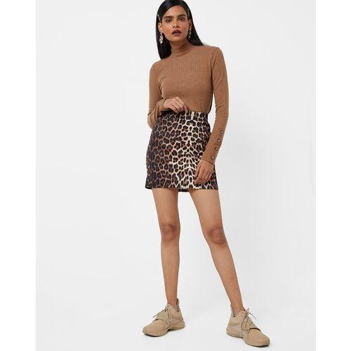 TALLY WEiJL Animal Print A-line Skirt