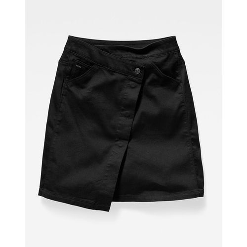 G STAR RAW 5621 Wrap Skirt with Slant Placket