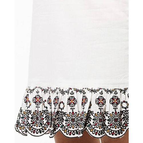 AJIO Skirt with Scalloped Hemline
