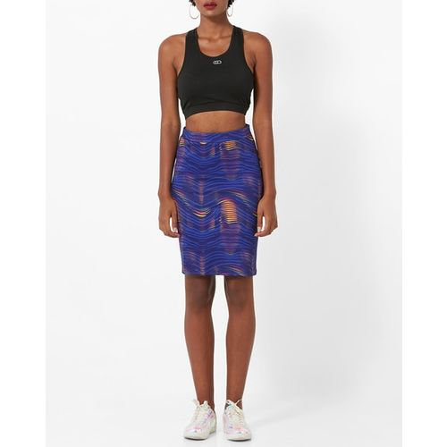 Project Eve WW Athleisure Printed Straight High-Rise Skirt