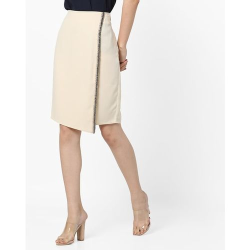Project Eve WW Evening Pencil Skirt with Embellished Trim