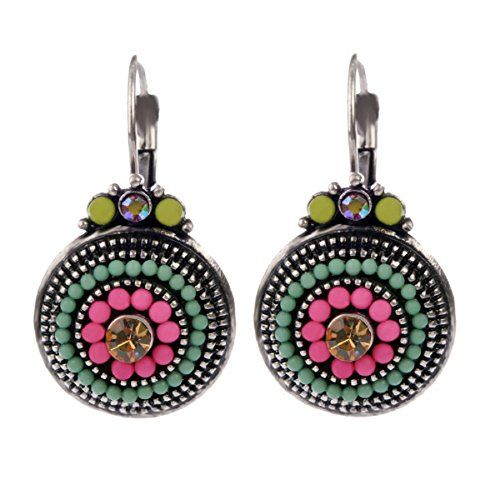 Sansar India Metal Multicolour Beads Earrings for Girl and Women