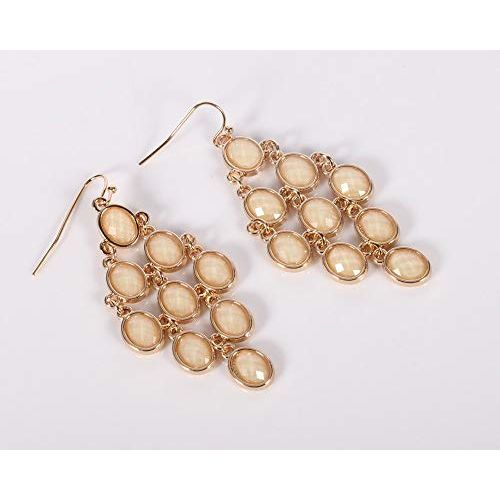 Bold N Elegant Gold Plated Long Shinning Crystal Beautiful Earrings Latest Trendy Earrings For Girls and Women