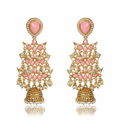 Shining Diva Fashion Latest Design Stylish Party Wear Traditional Pearl Jhumki Earrings for Women and Girls
