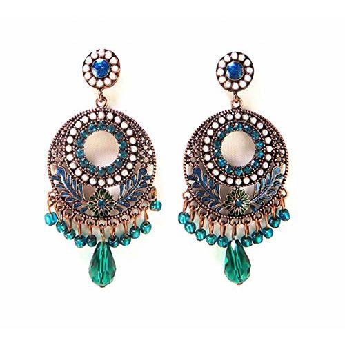 Mac Lawrence Blue Metal Bohemian Fancy Earrings for Women