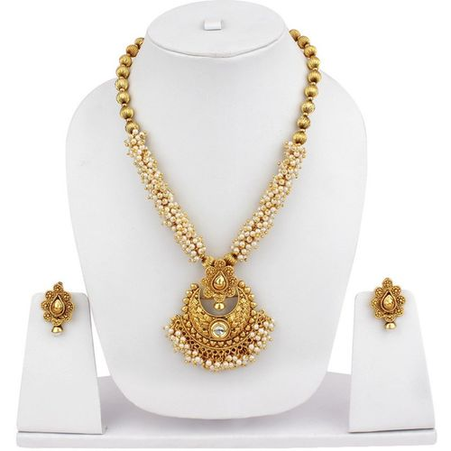 Jewels Capital Alloy Jewel Set(Gold, White)