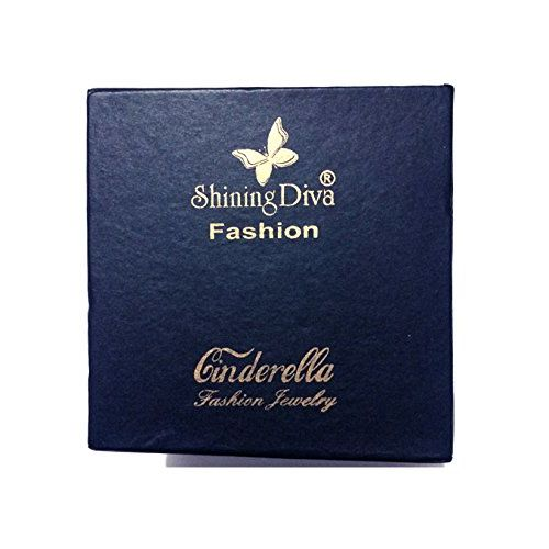 Shining Diva Fashion AAA High Quality Silver Latest Design Stylish Party Wear Earrings For Women