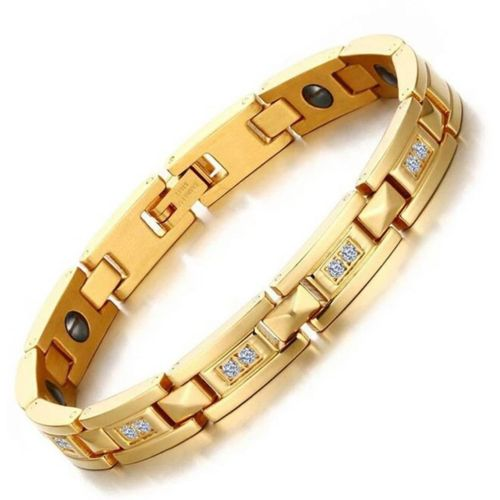 University Trendz Stainless Steel, Metal Gold-plated Bracelet