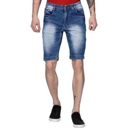 Studio Nexx Solid, Washed Men Dark Blue Denim Shorts