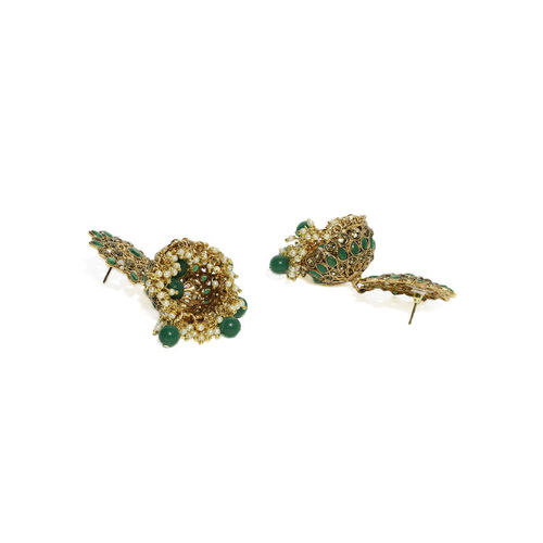 Zaveri Pearls Gold-Plated Dome Shaped Jhumkas
