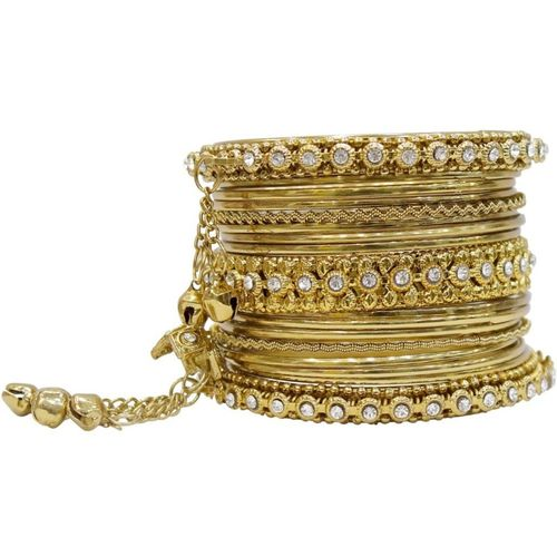 Muchmore Alloy Gold-plated Bangle Set(Pack of 2)