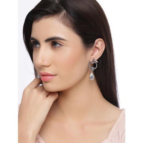 Studio Voylla Silver-Plated Classic Drop Earrings