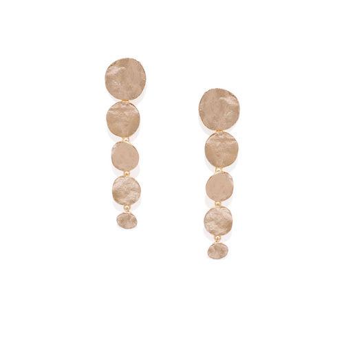 Pipa Bella Gold-Toned Geometric Drop Earrings