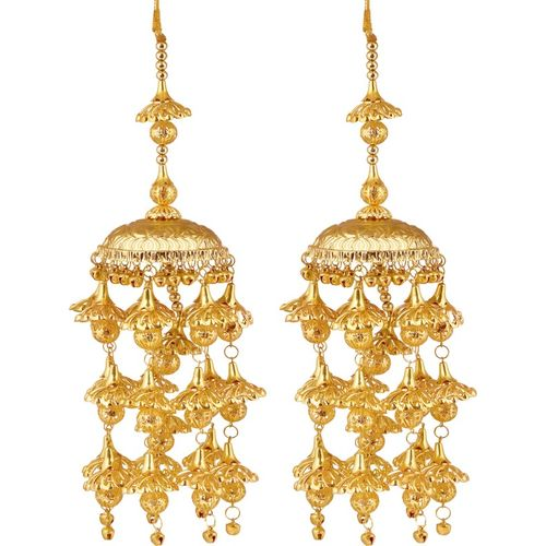 Mansiyaorange Brass Gold-plated Kalire(Pack of 2)