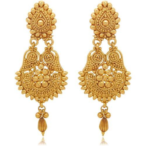 Zeneme Gold color Metal Dangle & Drop Earrings Jewellery For Women/Girls Alloy Drops & Danglers
