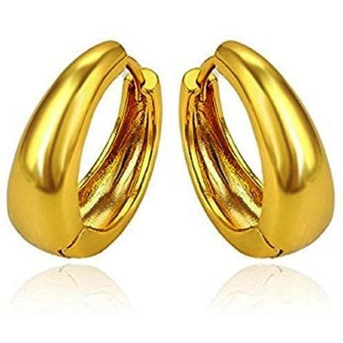 Divastri Golden Bali Ear rings Stylish Earing Clip on for Mens Boys Girls Stainless Steel Stud Earring