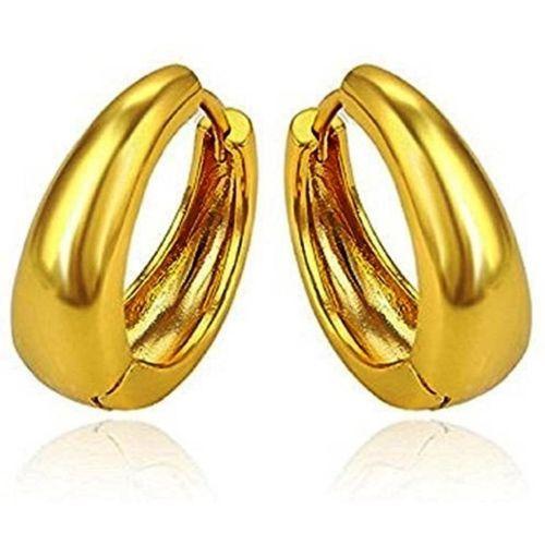 Divastri Golden Bali Ear rings Stylish Earing Clip on for Mens Boys Girls Stainless Steel Stud Earring