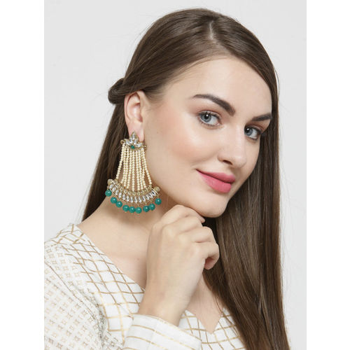 DIVA WALK Gold-Toned Contemporary Drop Earrings