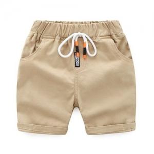 Pre Order - Awabox Solid Elasticated Front Pocket Shorts - Beige
