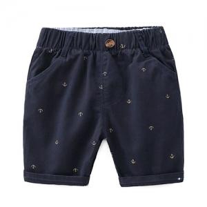 Pre Order - Awabox Anchor Printed Elasticated Shorts - Navy Blue