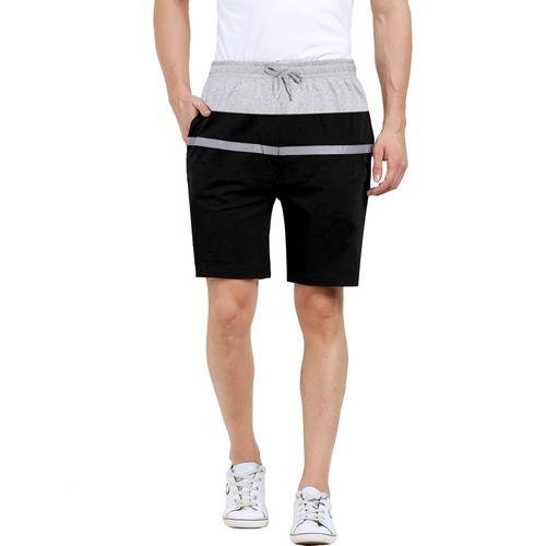 Maniac Striped Men Black, Grey Basic Shorts, Beach Shorts, Night Shorts, Regular Shorts, Sports Shorts, Regular Shorts