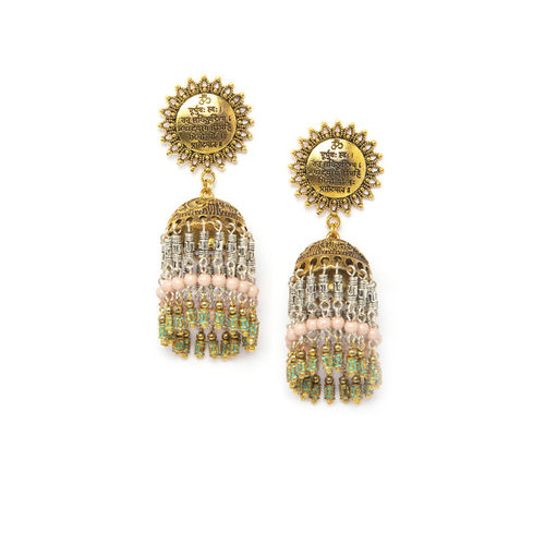 AKS Gold-Plated Handcrafted Dome-Shaped Jhumkas