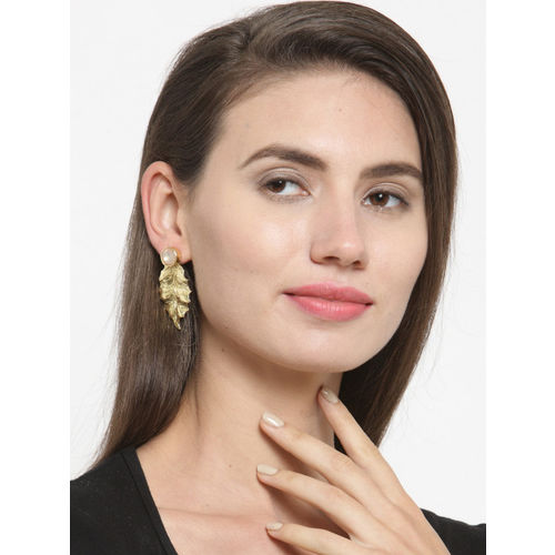 DIVA WALK Gold-Plated Contemporary Studs