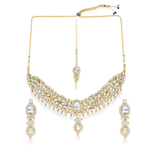 Peora Women Antique 18K Gold Plated Traditional Jewellery Set