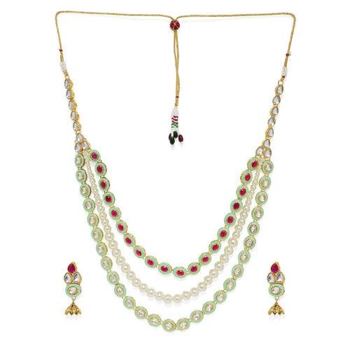 Zaveri Pearls Women Gold-Plated Layered Kundan Jewellery Set