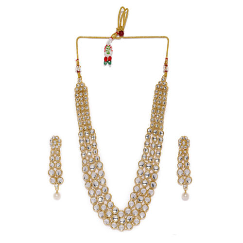 Zaveri Pearls Gold Toned Kundan Jewellery Set