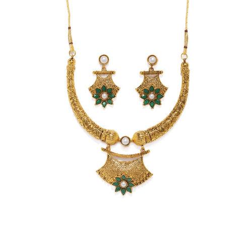 Zaveri Pearls Gold-Toned Jewellery Set