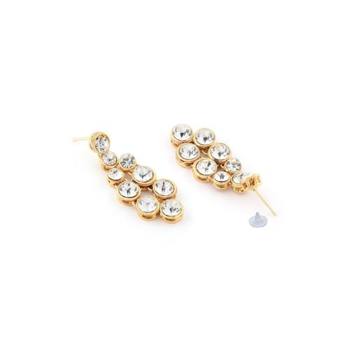 Zaveri Pearls Gold-Toned Shimmering Stones Studded Jewellery Set