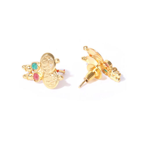 YouBella Gold-Plated Textured Jewellery Set