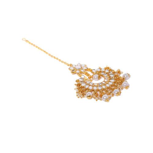 Zaveri Pearls Gold Toned Kundan & Pearls Jewellery Set