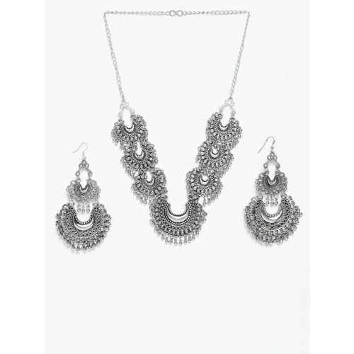 Moedbuille Handcrafted Oxidised Silver-Plated Brass Jewellery Set