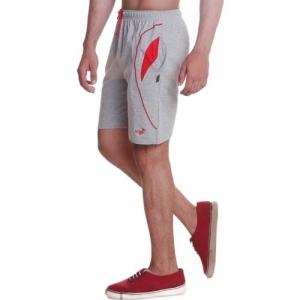 Vego Solid Men Grey Night Shorts