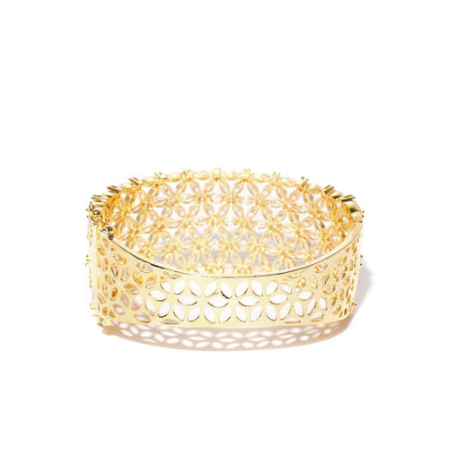 Jewels Galaxy Gold-Plated Handcrafted Stone-Studded Bangle-Style Bracelet