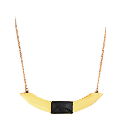 Loupe Gold-Toned & Black Geometric Pendant LGL17BPD03